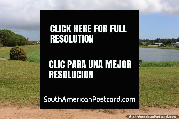 The lake in Kourou, Lac du Bois Chaudat, French Guiana. (720x480px). The 3 Guianas, South America.