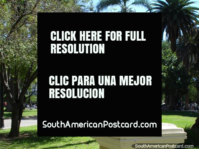 Statue in Plaza 9 de Julio in Salta. (640x480px). Argentina, South America.