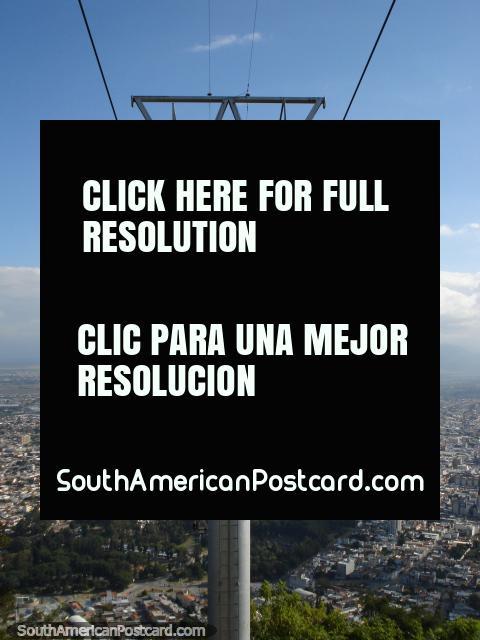 El teleférico sobre Salta. (480x640px). Argentina, Sudamerica.