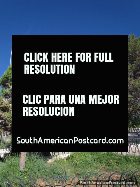 Domingo Faustino Sarmiento monument in La Quiaca park. (480x640px). Argentina, South America.