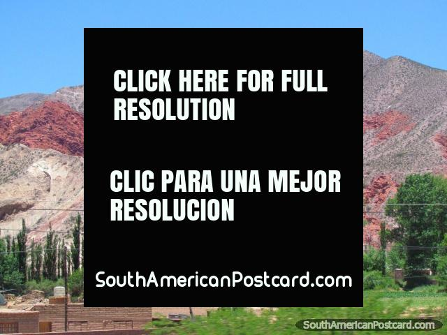 Rocky red hills south of Humahuaca. (640x480px). Argentina, South America.