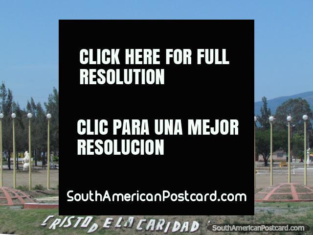 Cristo de la Caridad, huge Jesus statue in Palpala. (640x480px). Argentina, South America.