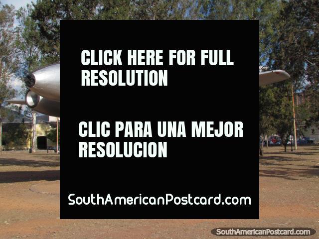 Fuerza Aerea Argentina, plane monument in Salta park 20 de Febrero. (640x480px). Argentina, South America.