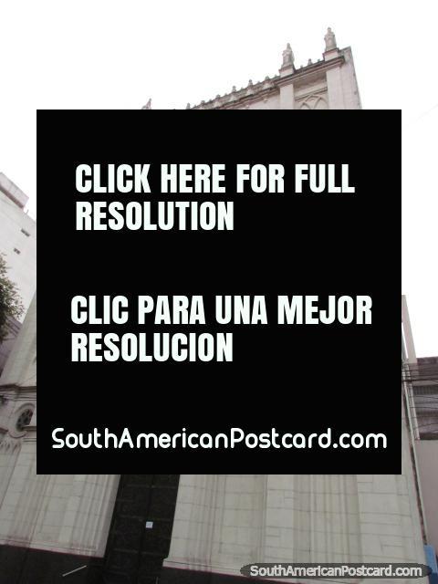 Church and building Nuestra Senora del Huerto in Rosario. (480x640px). Argentina, South America.