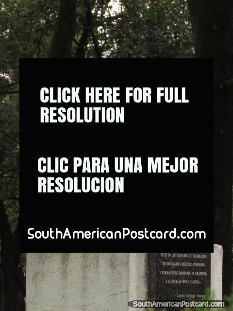 Poet and writer Rosalia de Castro (1837-1885) monument in Rosario. (480x640px). Argentina, South America.