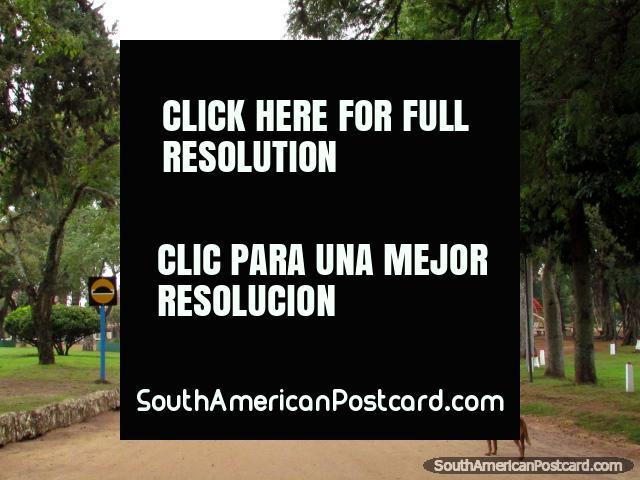 Edificio llamado El Lindera usado para entretenimiento y folklore cultural en el parque en Colon. (640x480px). Argentina, Sudamerica.