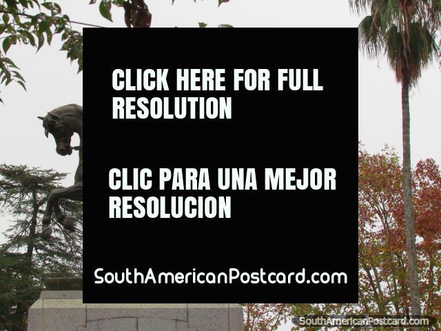 General Jose de San Martin on horse monument at Plaza San Martin in Colon. (640x480px). Argentina, South America.