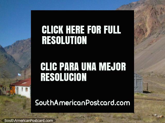 The Lost World Museum, Mundo Perdido near the Mendoza River and train east of Cristo Redentor. (640x480px). Argentina, South America.