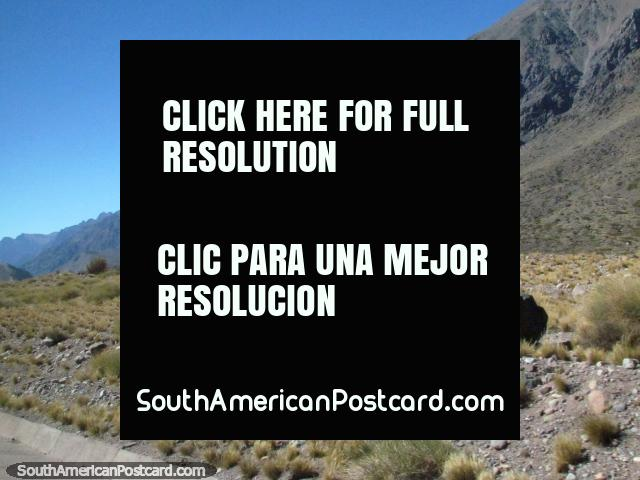 Rocks and rocky landscape, through the mountains between Cristo Redentor and Mendoza. (640x480px). Argentina, South America.