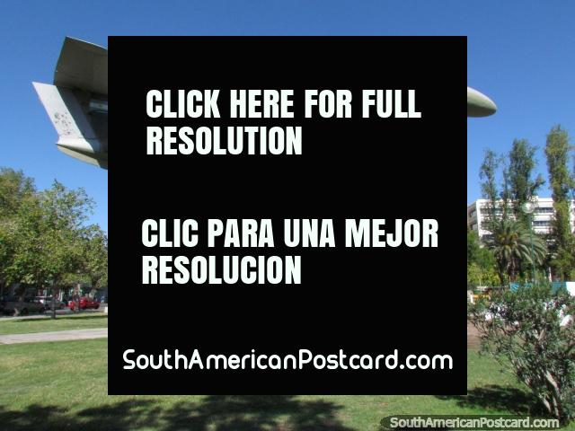 A war plane on display at Plaza Espana in San Juan. (640x480px). Argentina, South America.
