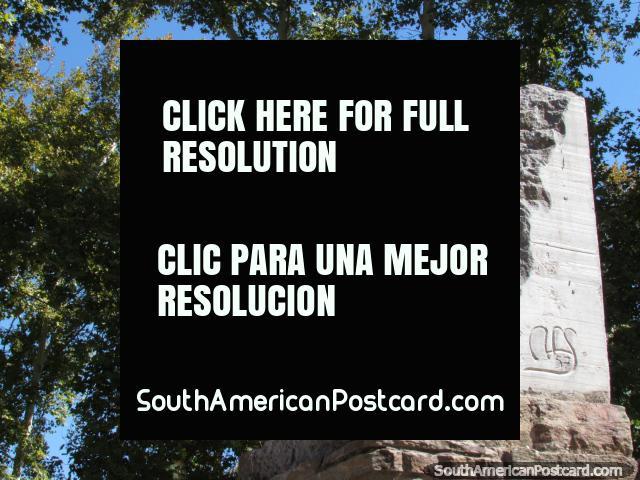 Composer Arturo Beruti (1862-1938) bust at Parque de Mayo in San Juan. (640x480px). Argentina, South America.