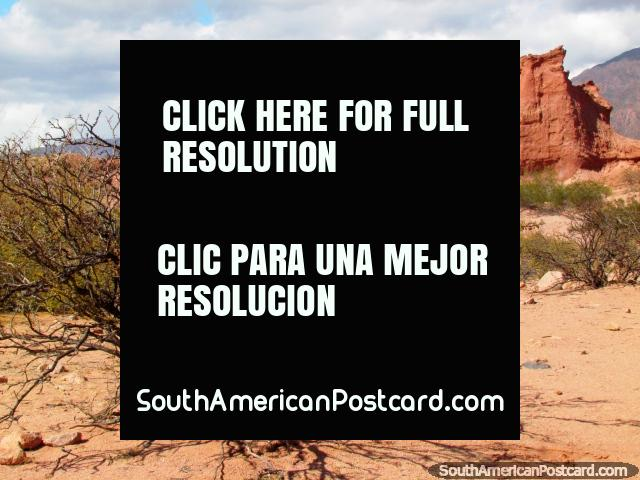 Rough terrain and rock forms in the Quebrada de las Conchas in Cafayate. (640x480px). Argentina, South America.