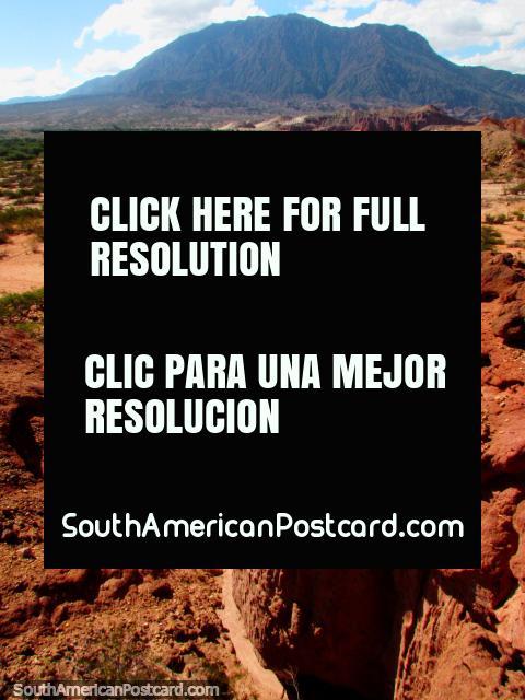 Exploring the Quebrada de las Conchas in Cafayate, red rocky terrain. (480x640px). Argentina, South America.
