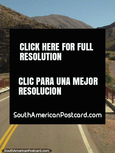 Crossing a bridge, the road is good, Salta to Paso de Jama. (480x640px). Argentina, South America.