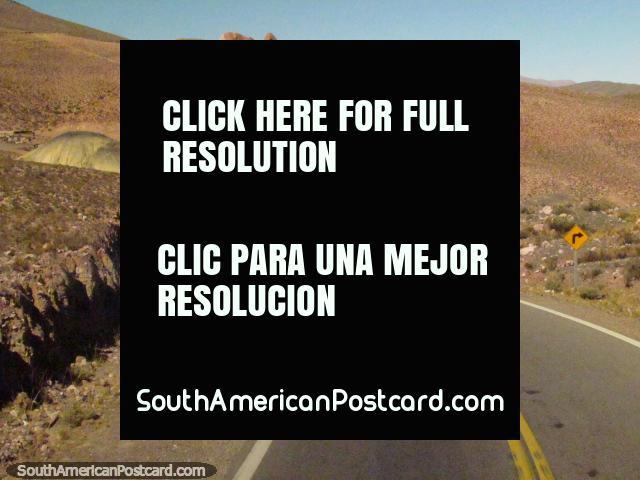Interesting landscape through the mountain ranges to Paso de Jama. (640x480px). Argentina, South America.