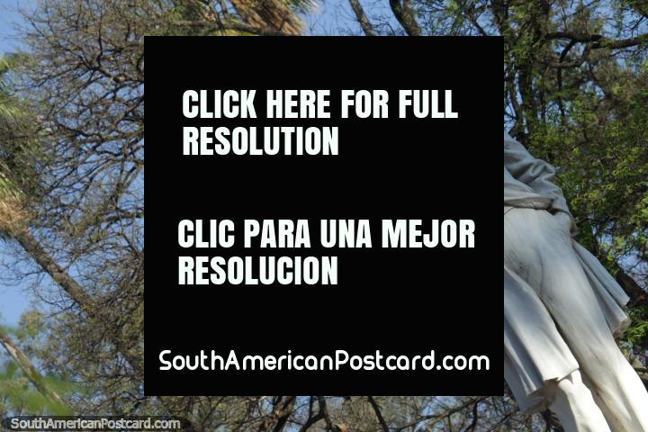 Dr. Facundo de Zuviria, white statue at Parque San Martin, Salta. (720x480px). Argentina, South America.