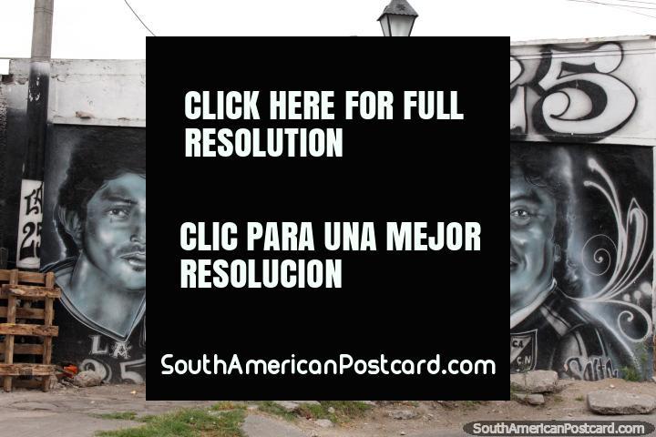 Un grupo de música? Mural en blanco y negro en Salta. (720x480px). Argentina, Sudamerica.