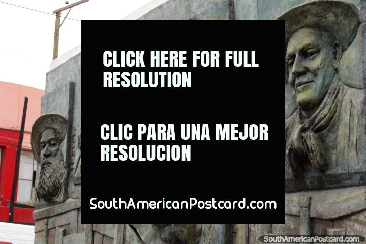 Juan Balderrama (1916-2004), el flamenco y la popular cantante Español, cara esculpida en Salta. (720x480px). Argentina, Sudamerica.