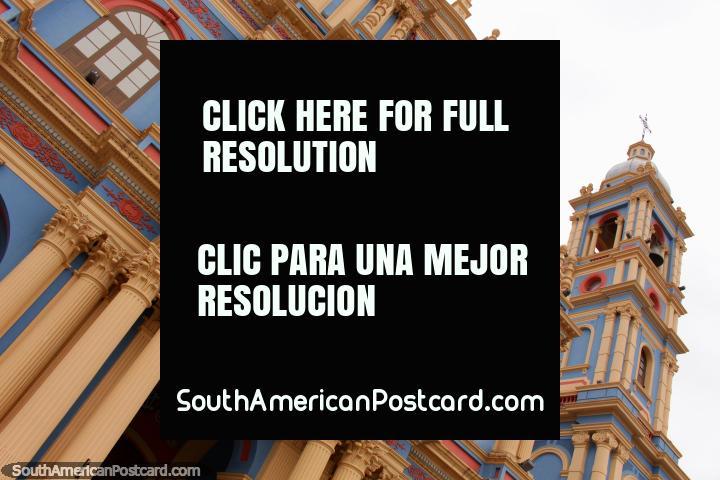 Igreja Nuestra Senora da Candelaria da Vina, construïdo desde 1873, terminou em 1908, Salta. (720x480px). Argentina, América do Sul.