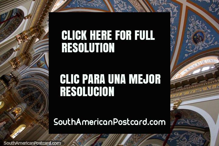 The amazing ceiling of the Nuestra Senora de la Candelaria de la Vina church in Salta. (720x480px). Argentina, South America.