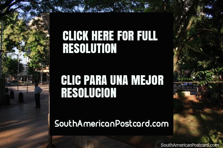Plaza San Martin, the 2nd main plaza in Posadas. (720x480px). Argentina, South America.