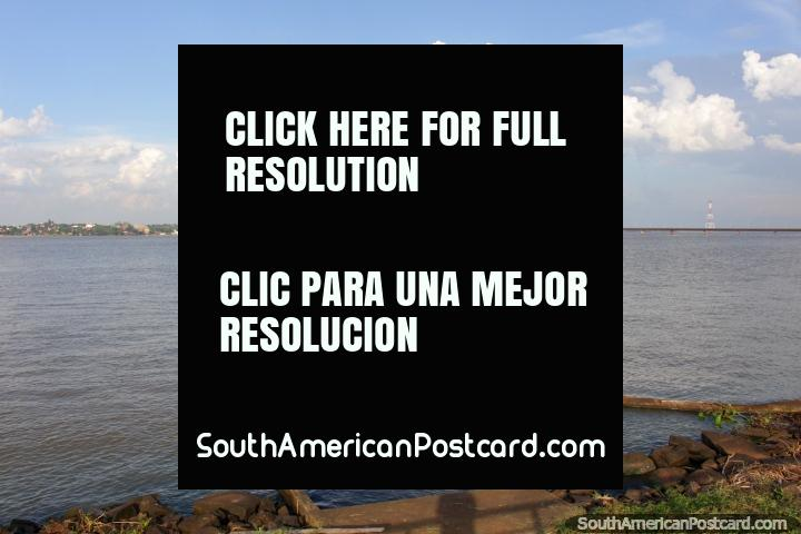 The bridge across the river from Posadas to Encarnacion - Paraguay. (720x480px). Argentina, South America.