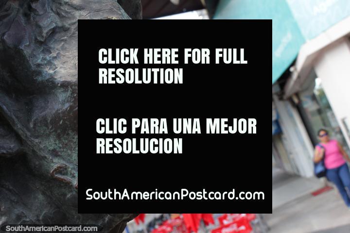 Lobo de Mar by Luisa Isabel Isella de Motteau, bronze-work of a mans face in Resistencia. (720x480px). Argentina, South America.