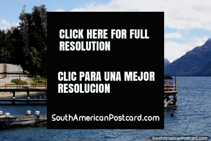 Villa Traful, the boat jetties and lake, a beautiful place to go fishing or camping. (720x480px). Argentina, South America.