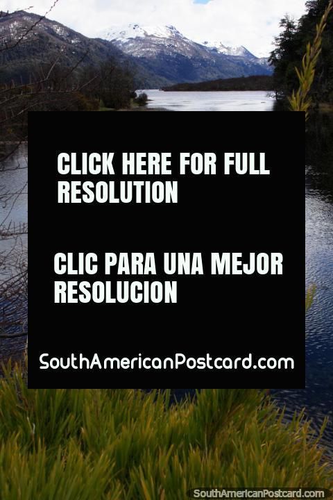 Lake Villarino, named after explorer Basilio Villarino (1741-1785), writer of diaries and maps, north of Bariloche. (480x720px). Argentina, South America.