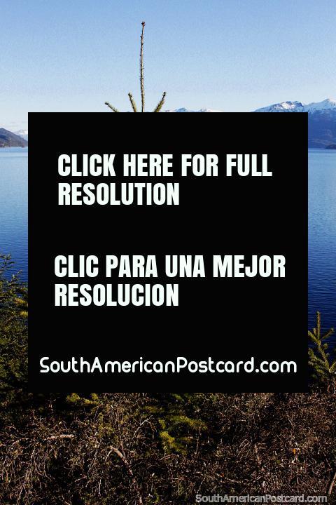 Lake Nahuel Huapi in the area of Villa La Angostura, a beautiful and smooth lake! (480x720px). Argentina, South America.