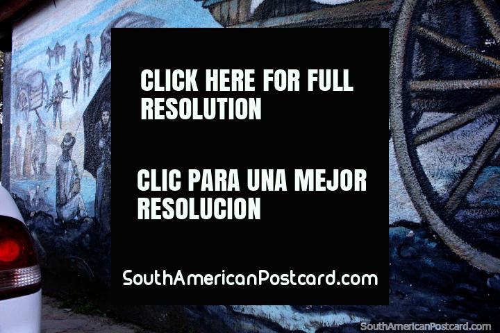 Jose L. Chatruc, street art dedication to a man in El Bolson. (720x480px). Argentina, South America.