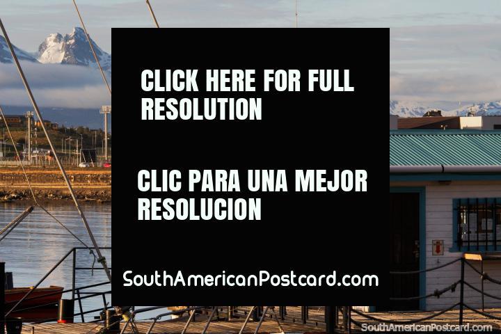 Club Nautico Ushuaia, the nice port area in the center of Ushuaia. (720x480px). Argentina, South America.