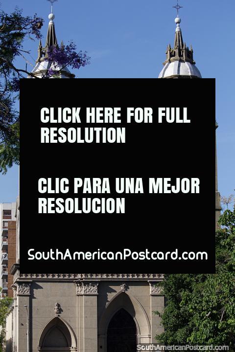 Built in 1898, Parroquia de San Miguel Arcangel, historic church in Parana. (480x720px). Argentina, South America.