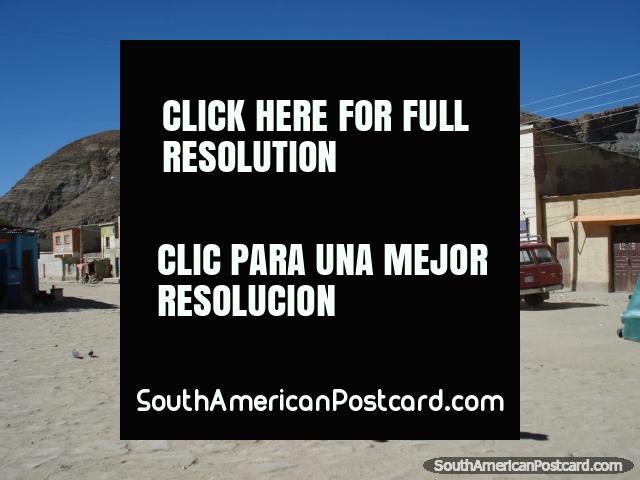 Standing in Atocha. (640x480px). Bolivia, South America.