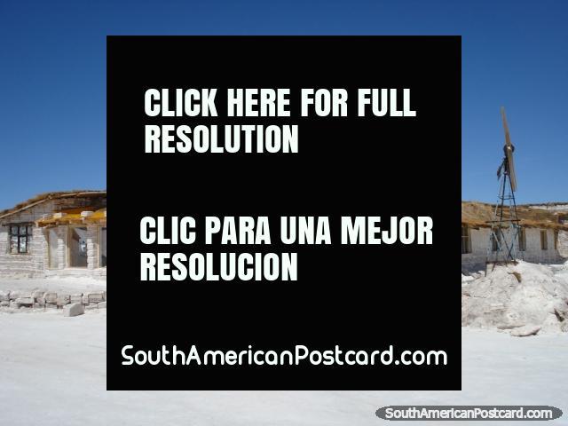 The Salt Hotel in the Salar de Uyuni made from salt bricks! (640x480px). Bolivia, South America.
