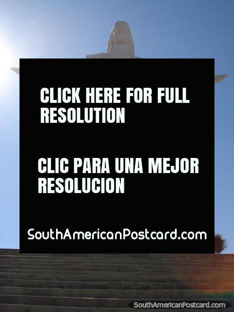 Cristo De La Concordia, the real tallest Jesus statue in the world, Cochabamba. (480x640px). Bolivia, South America.