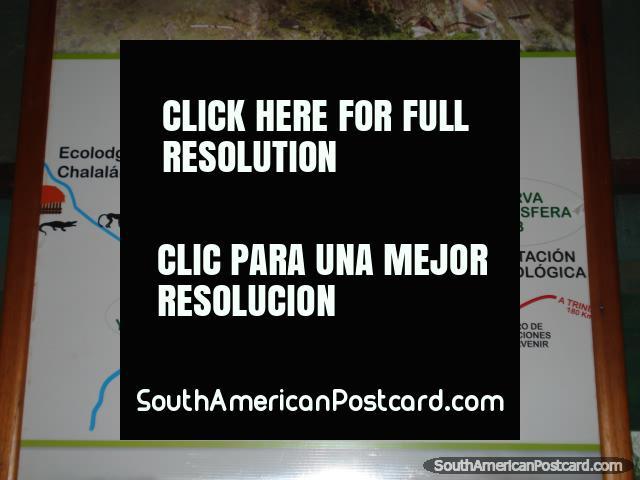 Map of Rurrenabaque, Reyes, Santa Rosa, San Borja and Yucumo area. (640x480px). Bolivia, South America.