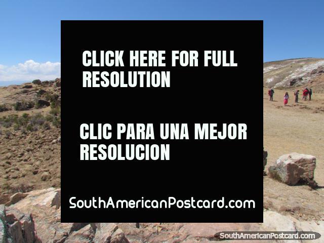 Hay ruinas de los incas en Isla del Sol en Lago Titicaca. (640x480px). Bolivia, Sudamerica.