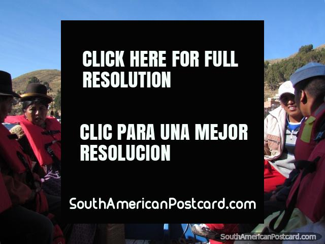 Crossing Lake Titicaca by boat from San Pedro de Tiquina. (640x480px). Bolivia, South America.