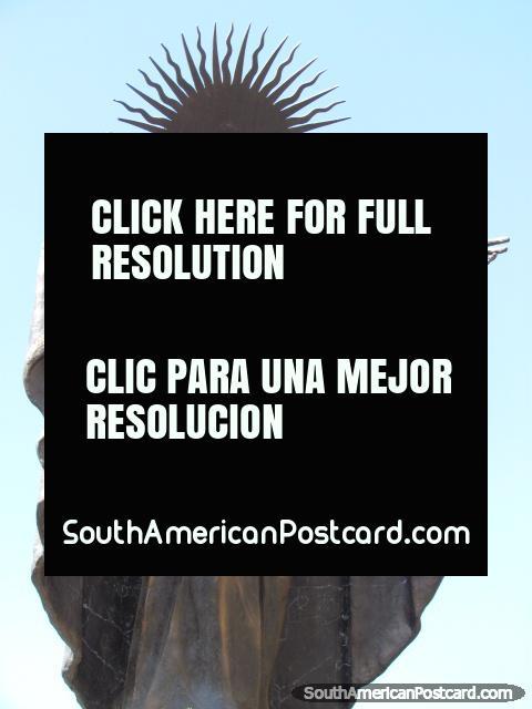 Monument at Plaza Jesus del Gran Poder in La Paz. (480x640px). Bolivia, South America.