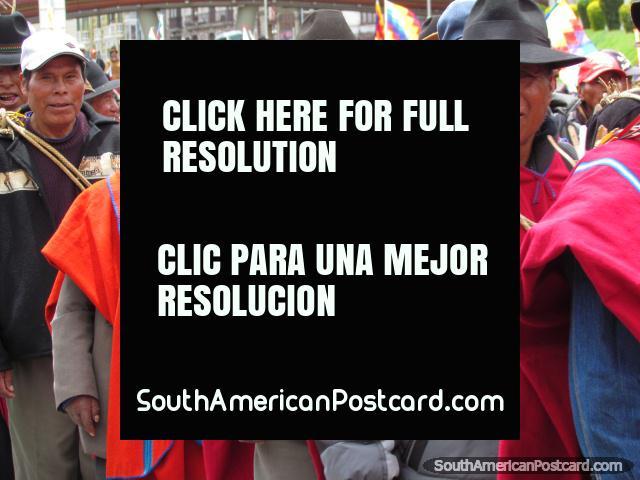 Indigenous men in La Paz. (640x480px). Bolivia, South America.