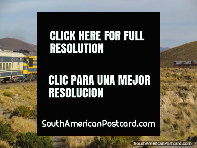 Expreso del Sur train from Oruro to Uyuni. (640x480px). Bolivia, South America.