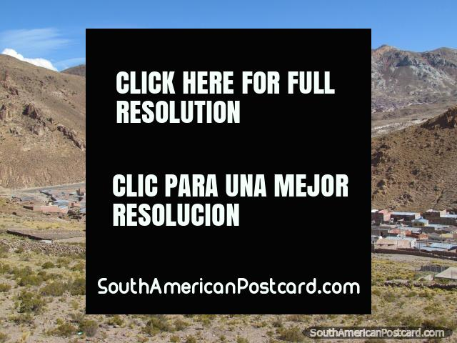 Mining settlement near Potosi on the road from Uyuni. (640x480px). Bolivia, South America.