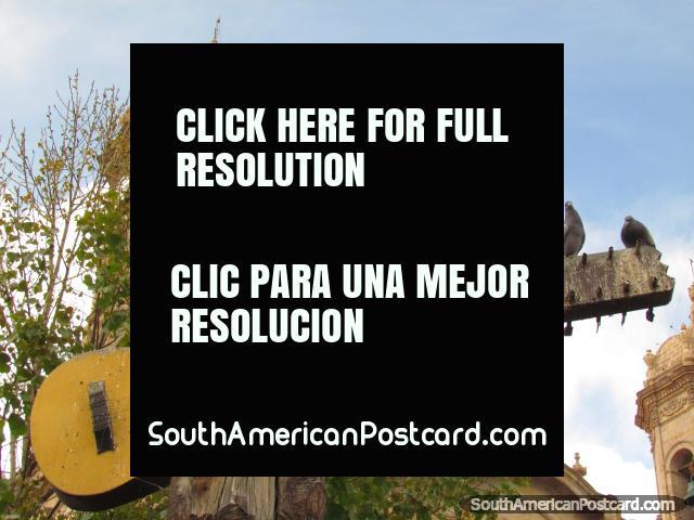 Guitar monument, Cuna del Charrango in Potosi. (640x480px). Bolivia, South America.