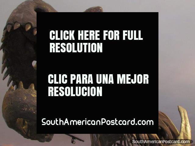 Dinosaur bones/model in museum at Parque Cretacico in Sucre. (640x480px). Bolivia, South America.