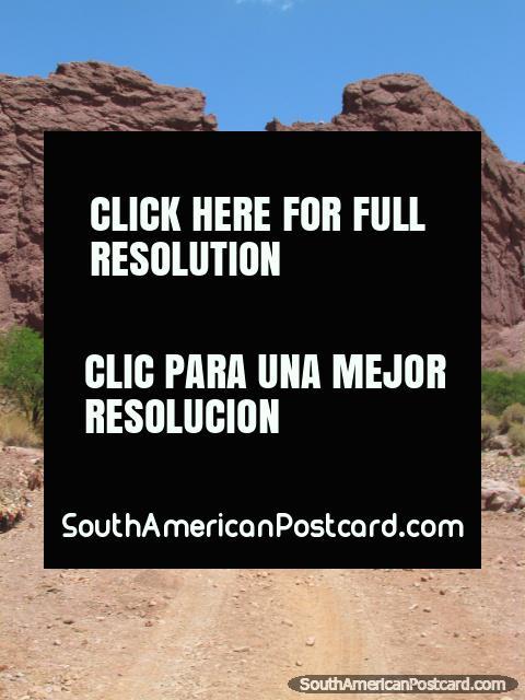 Red rock tunnel in Tupiza. (480x640px). Bolivia, South America.