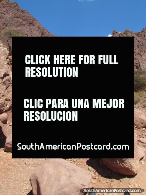 Boulder zone on horseback tour around Tupiza. (480x640px). Bolivia, South America.
