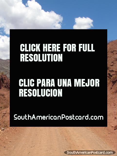 Dome of big rock on horse trail in Tupiza. (480x640px). Bolivia, South America.