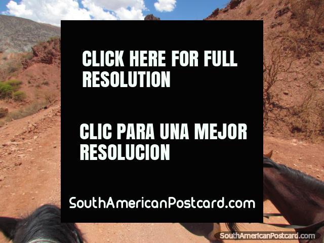 Nuestro guía en el caballo viaja en Tupiza. (640x480px). Bolivia, Sudamerica.