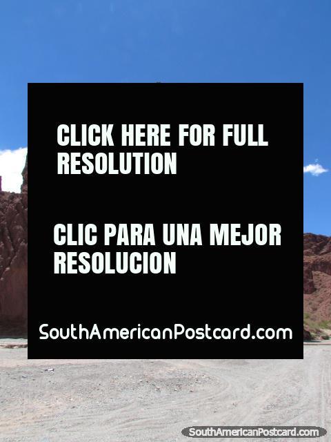Jagged red rock pyramids in Tupiza. (480x640px). Bolivia, South America.